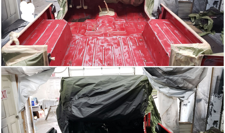 Spray On bed liners before and after