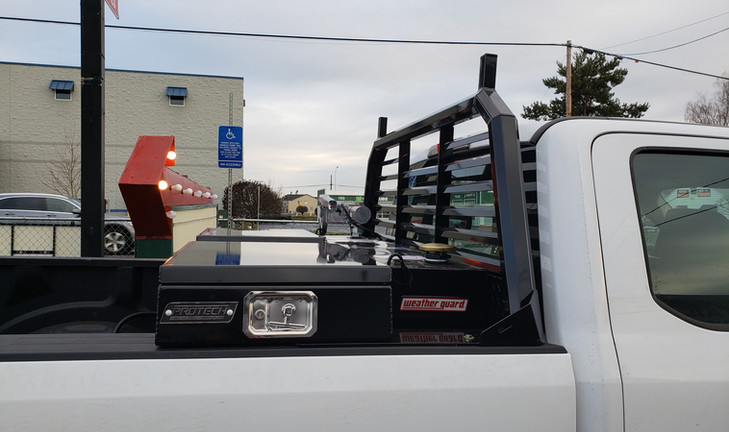 Protech Cab Rack and Tool box With a weatherguard Fuel Tank and GPI Fuel pump