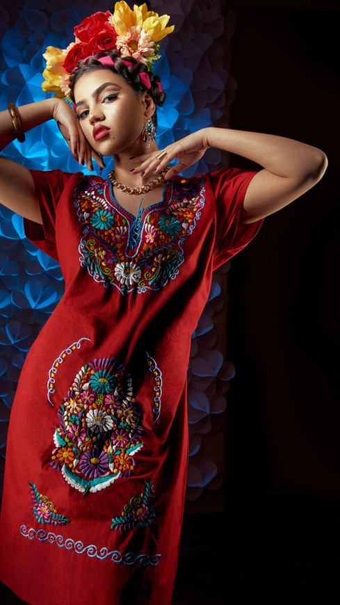 David-Alonzo-Photography-with-Nouran-Shalaby-As-Frida-Kahlo-Red-Dress-Fashion-Portrait-1.jpg