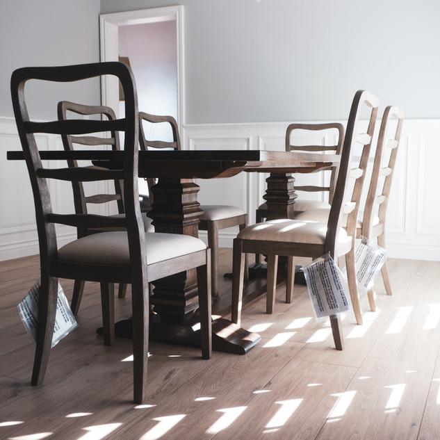 White Oak Trestle Table