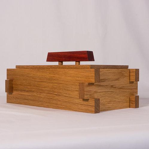 Heirloom Box - Oak with a Padauk Handle