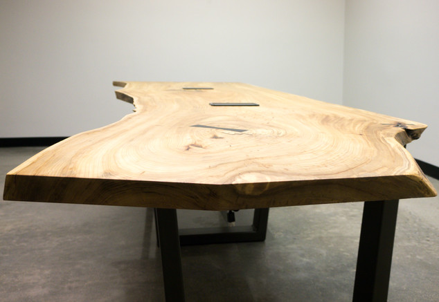 Siberian Elm Live Edge Conference Table