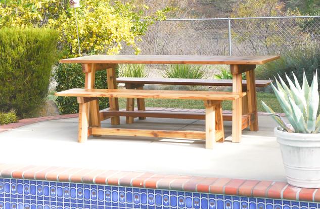 Reclaimed Western Red Cedar - Outdoor Table