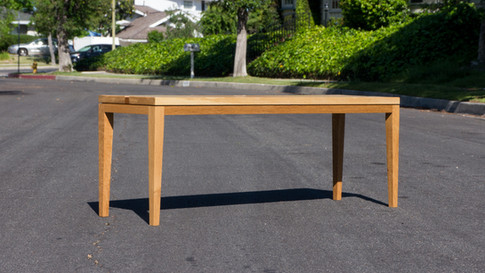 Oak Bench with Cherry Accent