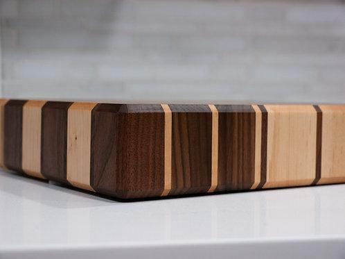 Butcher Block Cutting Board - Walnut and Maple