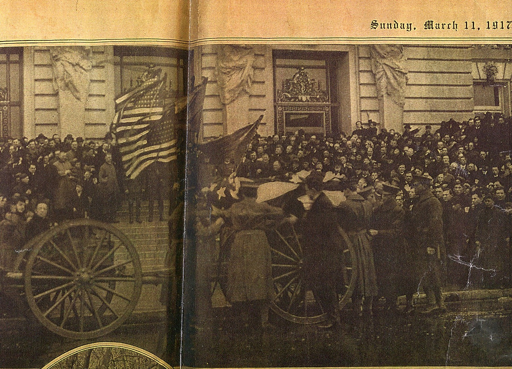 The arrival of the casket of General Frederick Funston, City Hall, San Francisco