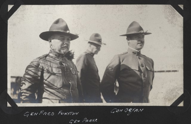 General Funston on Mexican border