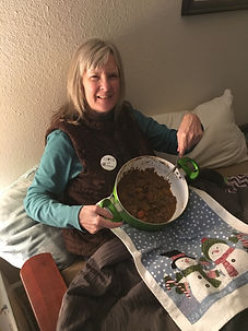 cathleen with stew.JPG