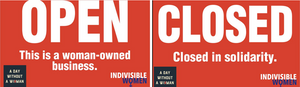 Put one of these placards into your window to stand in solidarity with women across the nation!