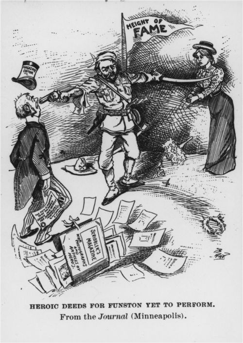 Another cartoon of Frederick Funston, the man controversial on both sides