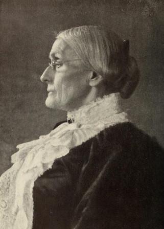 Suffrage leader, Susan B. Anthony