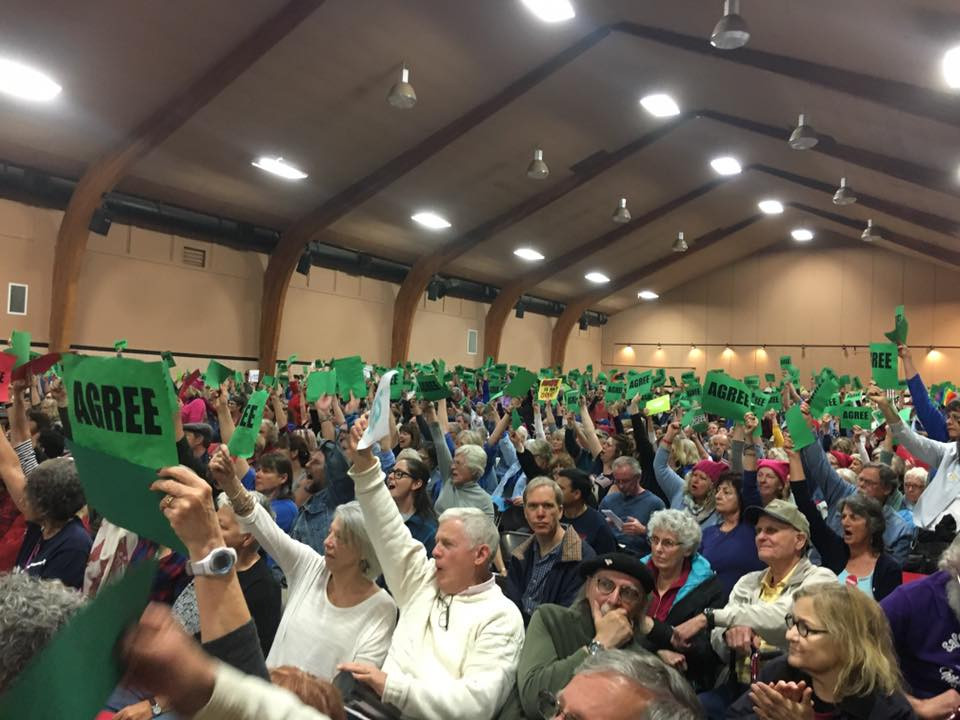 Nevada County's Town Hall with Congressman LaMalfa,1,500 strong.