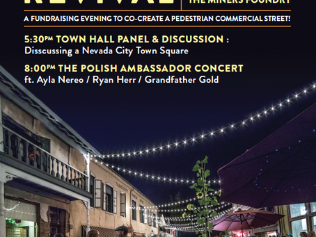 Nevada City Concert & Panel Discussion This Friday! The Town Square Revival!