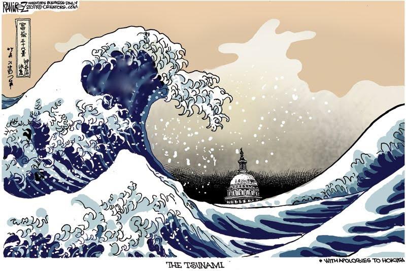 There's a tsunami heading Washington's way.