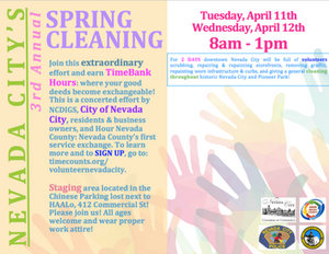 Nevada City's 3rd Annual City-wide Spring Cleaning