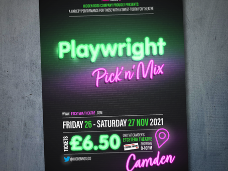 Come see me in PLAYWRIGHT PICK'N'MIX this November
