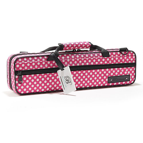 Beaumont C-Foot Flute Case - Pink Polka Dot
