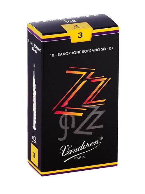 Vandoren ZZ Soprano Saxophone Reeds x10