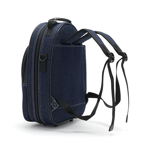 Beaumont Bb Clarinet Case - Blue Denim