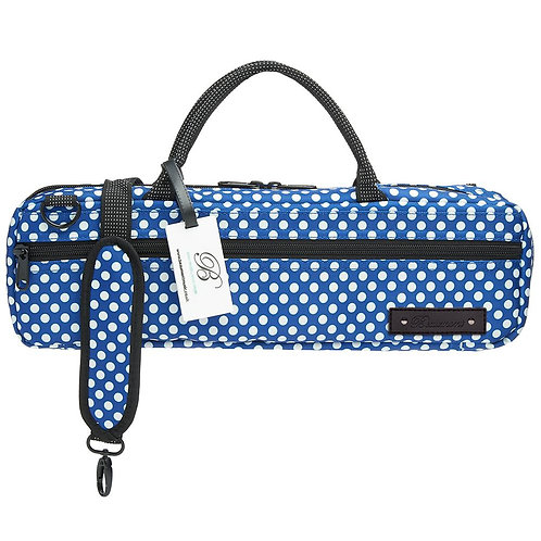 Beaumont C-Foot Flute Bag - Blue Polka Dot