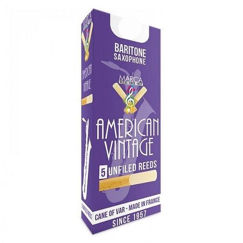 Marca American Vintage Baritone Saxophone Reeds x5