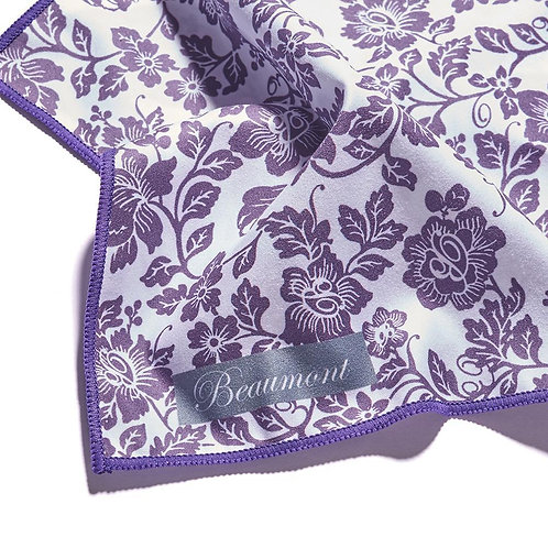 Beaumont Recycled Microfibre Cloth - Damson Lace (25x25cm)
