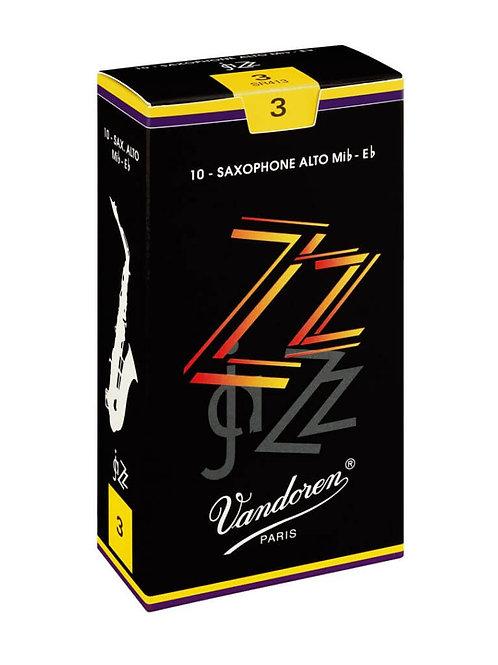 Vandoren ZZ Alto Saxophone Reeds x10