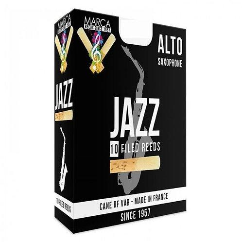 Marca Jazz - Filed Alto Saxophone Reeds x10