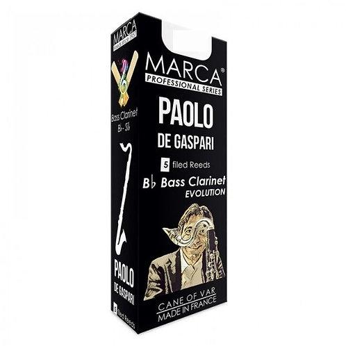 Marca Paolo De Gaspari Bass Clarinet Reeds x5