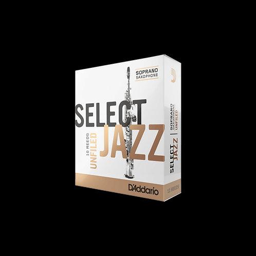 Rico Select Jazz Unfiled Soprano Saxophone Reeds x10