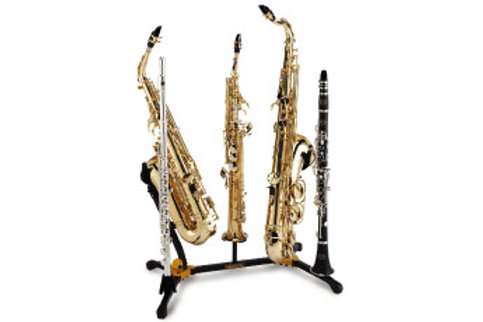 Hercules DS538B Alto/Tenor Stand with 2 Clarinet/Flute and 1 Soprano Sax
