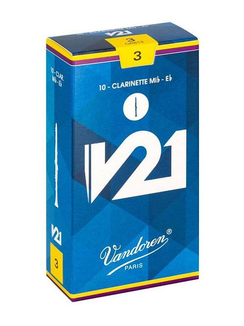 Vandoren V21 Eb Clarinet Reeds x10