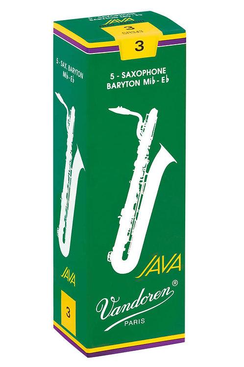 Vandoren JAVA Green Baritone Saxophone Reeds x5