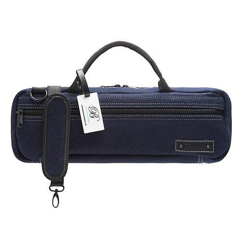 Beaumont C-Foot Flute Bag - Blue Denim