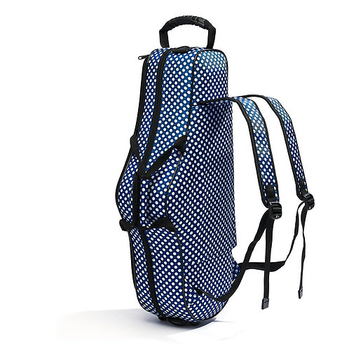 Beaumont Alto Saxophone Case - Blue Polka Dot