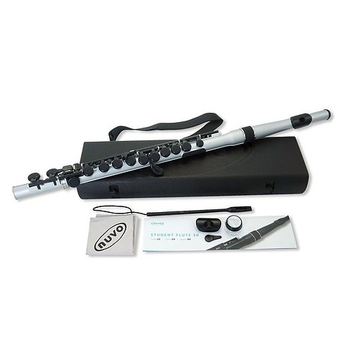 Nuvo Lightweight Student Flute - Metallic Silver