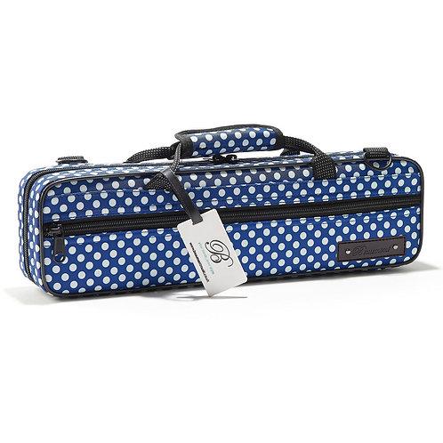 Beaumont C-Foot Flute Case - Blue Polka Dot