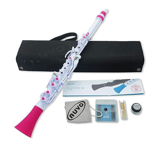 Nuvo Clarineo 2.0 C Clarinet - White/Pink