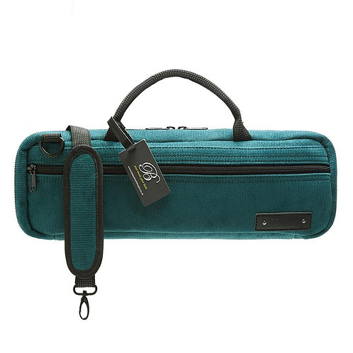 Beaumont C-Foot Flute Bag - Teal Corduroy