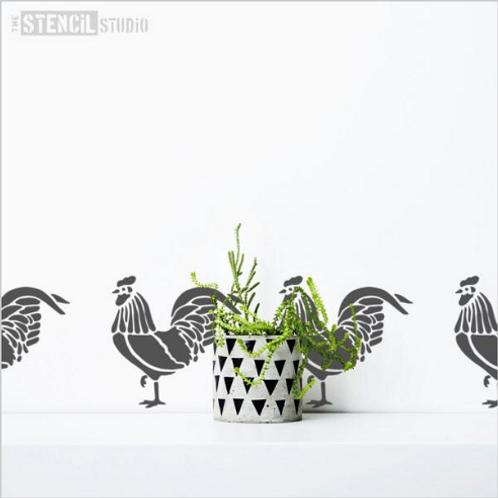 Stencil Country Cockerel