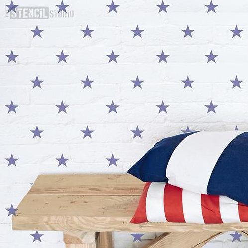 Stencil Mini Stars