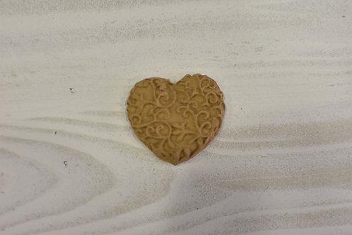 Fregio decorazione 18 cuore pasta di legno