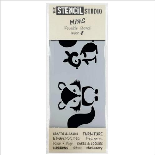 Mini Stencil Fox & Squirrel
