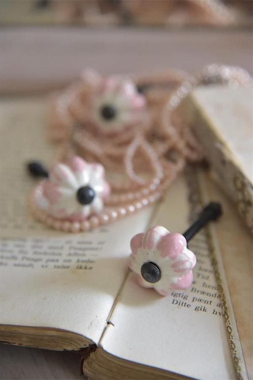 Pomello in ceramica modello fiore rosa