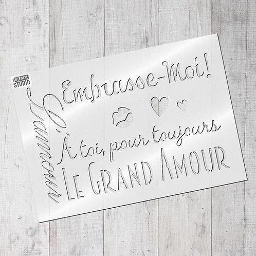 Stencil Le Grand Amour