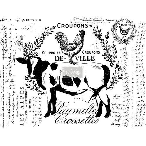 DECALCOMANIA FARM DELIGHTS 55x73 cm