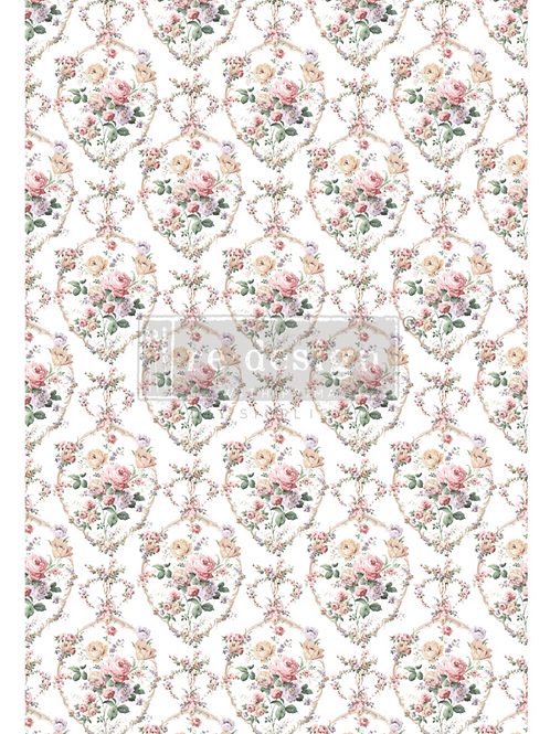DECALCOMANIA FLORAL COURT 61x89cm