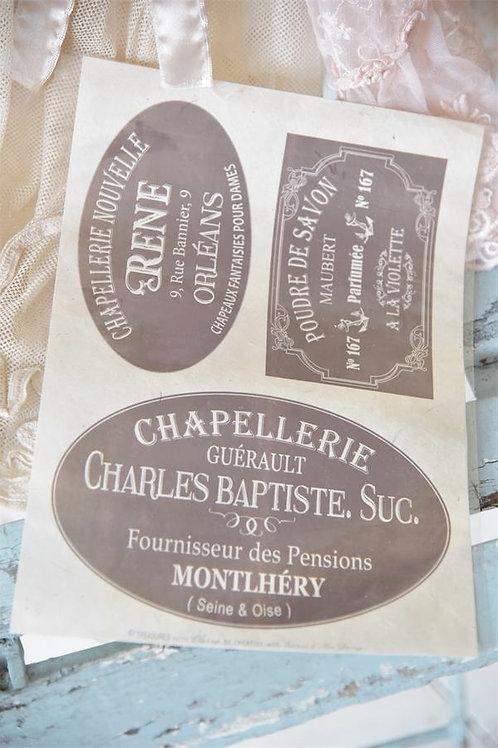 Decorazione monouso per mobili e pareti Charles Baptiste