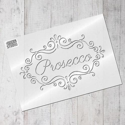 Stencil Prosecco Frame