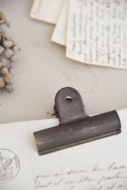 Clip in metallo L. 10 cm.